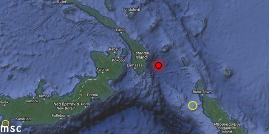 Σεισμός 8R στην Παπούα Νέα Γουινέα - Προειδοποίηση για τσουνάμι