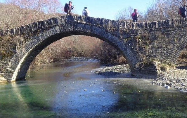 Πεζοπορία πλάι σε παγωμένα ποτάμια