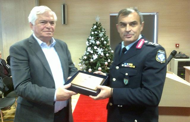 Η Αστυνομική Διεύθυνση τίμησε τον πρόεδρο της ΕΒΟΛ Νικήτα Πρίντζο