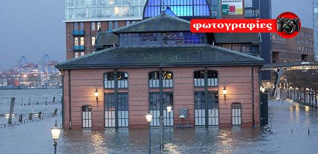 Γερμανία: Σαρωτικές πλημμύρες στον βορρά, χιονιάς στον νότο