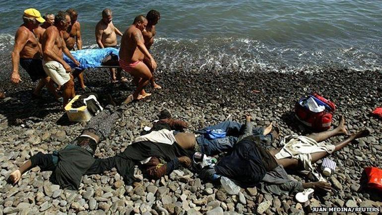 Εντοπίστηκαν έξι νεκροί μετανάστες στις νότιες ακτές τις Ισπανίας