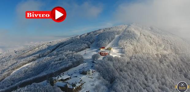 Ένα υπέροχο βίντεο για το χιονισμένο Βόλο και Πήλιο! Από το Βουνό στην Θάλασσα