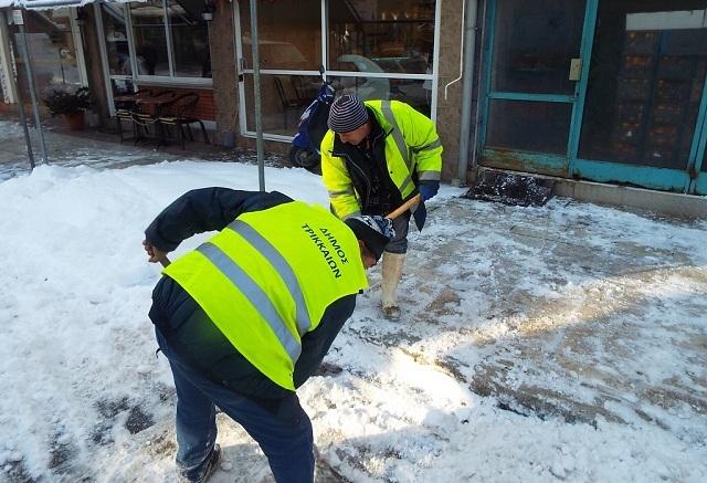 Απολογισμό ενεργειών κατά τον πρόσφατο χιονιά έκανε ο Δήμαρχος Τρικκαίων
