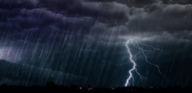 Ερχονται καταιγίδες από το βράδυ της Δευτέρας