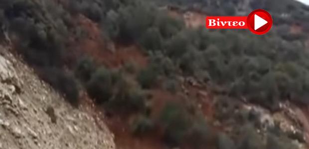 Αποκλείστηκε χωριό από κατολίσθηση στην Αχαΐα