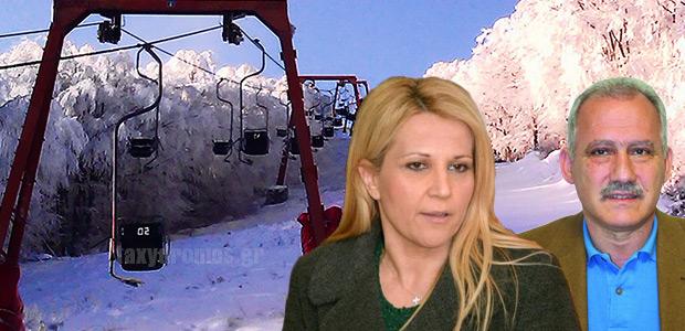 Χιονοπόλεμος… Δήμου Βόλου - Περιφέρειας με φόντο τη βλάβη στο μονοθέσιο λίφτ