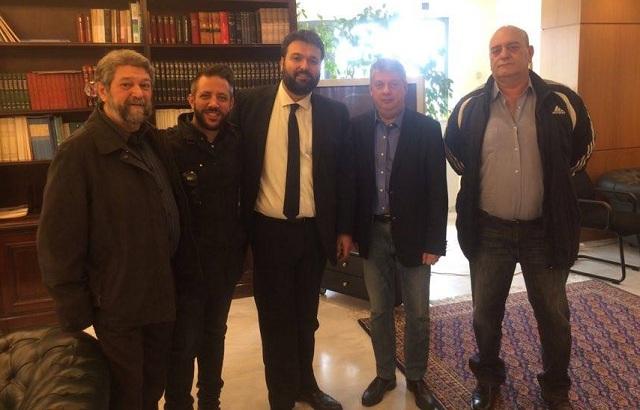 Ο Αλ. Μεϊκόπουλος στον Υφ. Αθλητισμού για τον εξοπλισμό του Πανθεσσαλικού