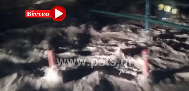 Άνοιξαν οι ουρανοί στη Νάουσα της Πάρου
