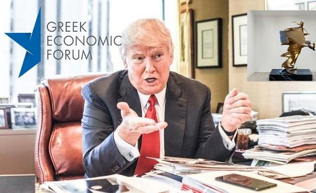 Στο Λευκό Οίκο, ο χρυσός Εύζωνος, δώρο του Greek Economic Forum στον Τραμπ