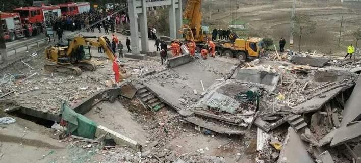 Κίνα: Κατέρρευσαν 3 πολυκατοικίες. Aνθρωποι παραμένουν παγιδευμένο
