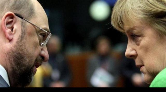 Κλείνει την ψαλίδα ο Σουλτς. Στο 31% οι Σοσιαλδημοκράτες, στο 34% η Μέρκελ