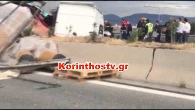 Φονική σύγκρουση αυτοκινήτου με φορτηγό στην εθνική Πατρών- Κορίνθου