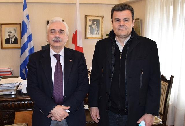 Συνεργασία του Αντιπεριφερειάρχη Θεσσαλίας με τον πρόεδρο του Ελληνικού Ερυθρού Σταυρού
