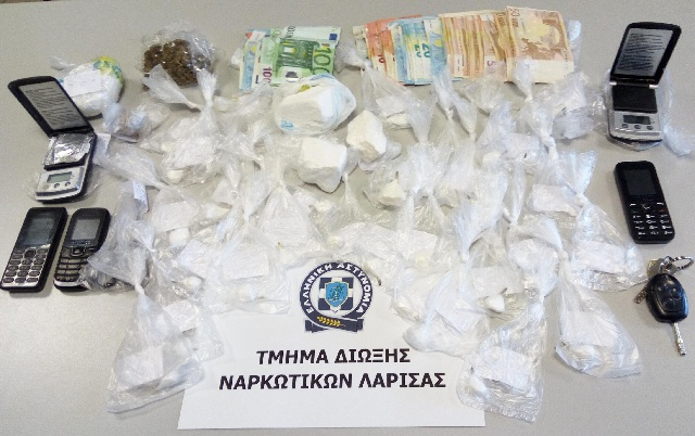 Δύο συλλήψεις για διακίνηση κοκαΐνης στη Λάρισα