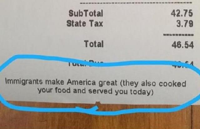 Σεφ στη Νέα Υόρκη στέλνει «μήνυμα» για τον Τραμπ στην απόδειξη εστιατορίου