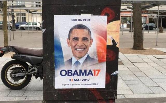Γάλλοι λένε «oui» στον... Ομπάμα και ξεκινούν καμπάνια για να τον κάνουν πρόεδρο!