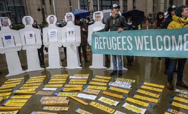 Βρυξέλλες: Διαδήλωση για τον απεγκλωβισμό των μεταναστών από την Ελλάδα