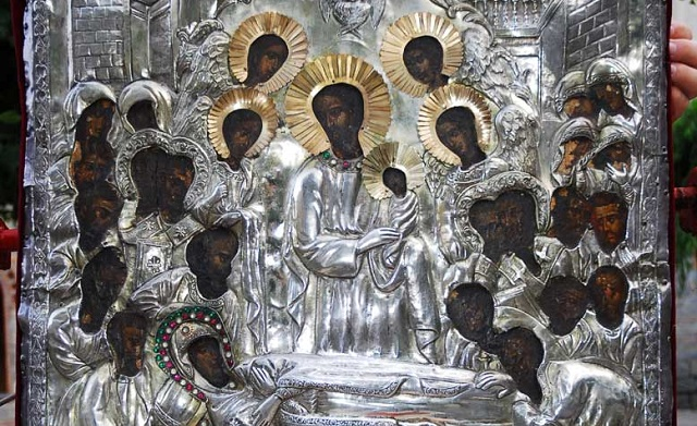 Η Ιερή Εικόνα της Παναγίας Ανω Ξενιάς στον Ναό Αγ. Κωνσταντίνου Βόλου