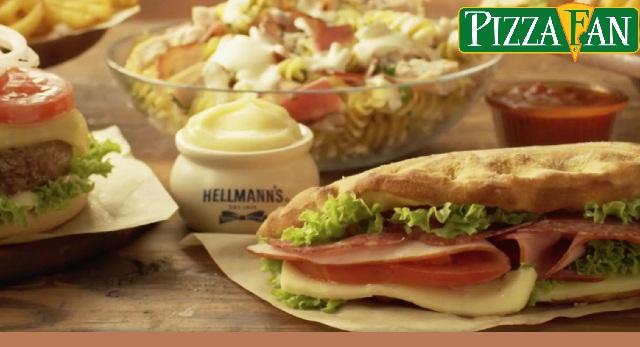 Η Pizza Fan χρησιμοποιεί μόνο μαγιονέζα Hellmann΄s