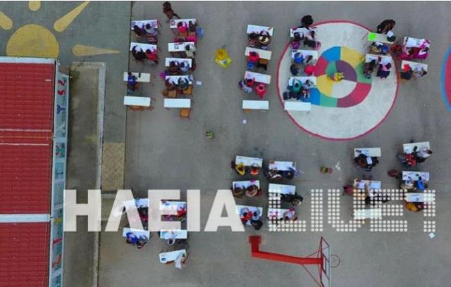 Ν. Μανωλάδα: Κάνουν μάθημα στην αυλή μέχρι να τους φτιάξουν το σχολείο
