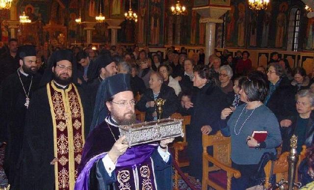 Στην Ανάληψη Ιερό Λείψανο του Αγίου Σπυρίδωνα