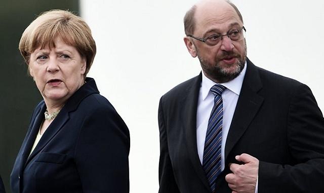 Μάχη στήθος με στήθος δείχνουν οι δημοσκοπήσεις για Μέρκελ -Σουλτς