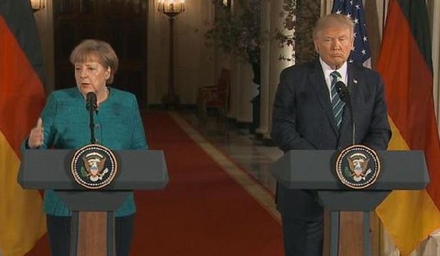 Τραμπ: Η μετανάστευση δεν είναι δικαίωμα- Μέρκελ: Η Γερμανία συνεχίζε να πολεμά την τρομοκρατία