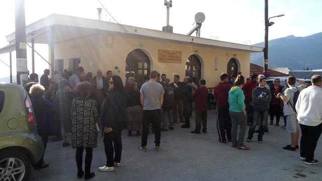 Συγκέντρωση διαμαρτυρίας στον Αγιο Λαυρέντιο