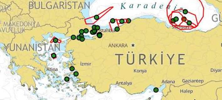 Η Τουρκία δεσμεύει περιοχή νότια του Καστελόριζου για να κάνει ασκήσεις με πυρά