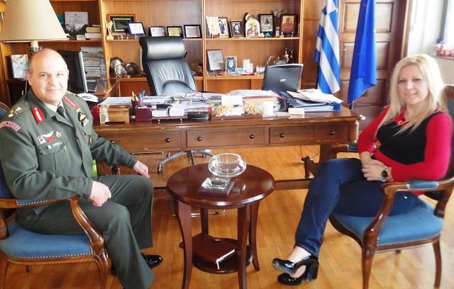 Συνάντηση Δ. Κολυνδρίνη με τον νέο Διοικητή της 1ης ΤΑΞ.Α.Σ.