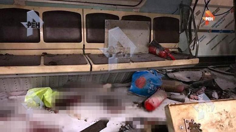 Συγκλονιστικές εικόνες από το βαγόνι στην Αγ. Πετρούπολη