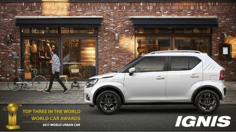 Στους φιναλίστ του World Urban Car 2017 το νέο Suzuki IGNIS