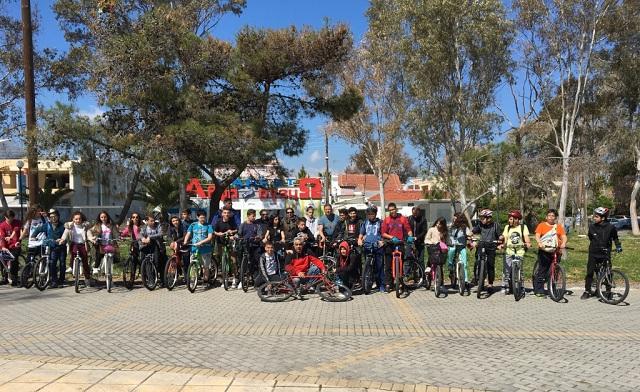 Σχολική εκδρομή με ποδήλατα στις Αλυκές