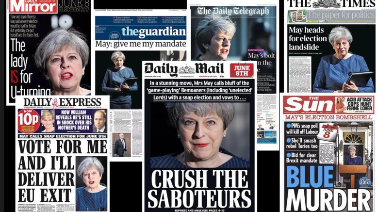 Το «στοίχημα» της Μέι στα πρωτοσέλιδα του βρετανικού Τύπου