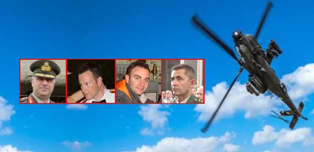 Τριήμερο πένθος στις Ενοπλες Δυνάμεις για τους τέσσερις νεκρούς αξιωματικούς