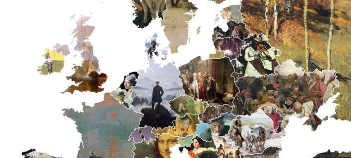 Ενας χάρτης δείχνει τα σημαντικότερα έργα τέχνης της Ευρώπης