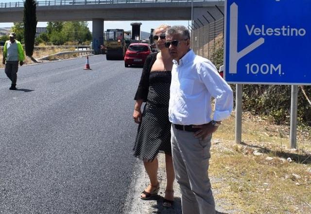 Διαγραμμίσεις στο οδικό δίκτυο της Μαγνησίας