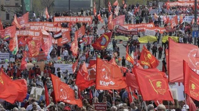 Τεράστια διαδήλωση στη Μόσχα για την Εργατική Πρωτομαγιά