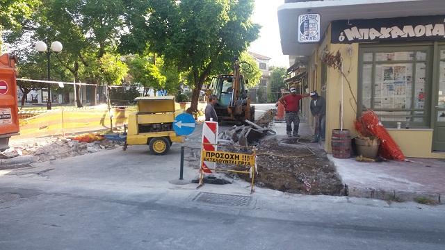 Εργασίες βελτίωσης της οδού Κροκίου στα Παλιά