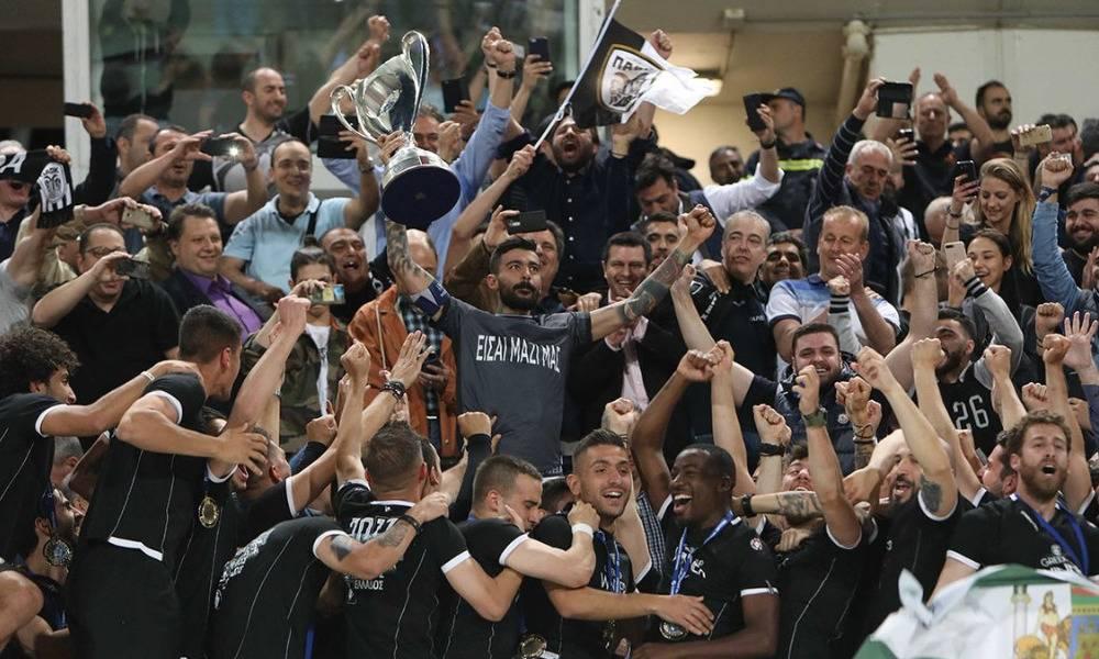 H απονομή του Κυπέλλου και οι πανηγυρισμοί των παικτών του ΠΑΟΚ (video)