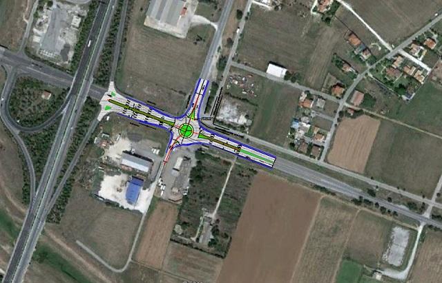Δύο κυκλικοί κόμβοι στην ΠΕΟ Λάρισας – Βόλου