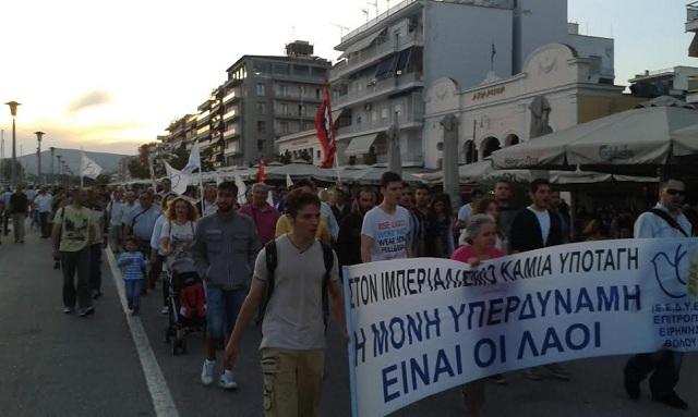 Πορεία Ειρήνης την Τρίτη από την Ν. Ιωνία ως τον Βόλο