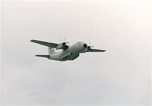 Ζημιά σε C-27J της Πολεμικής Αεροπορίας στο αεροδρόμιο της Σαντορίνης