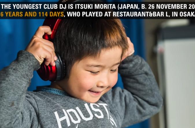 DJ είναι έξι ετών και μόλις έσπασε το ρεκόρ Γκίνες (Vid)