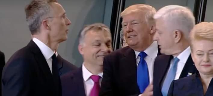 O απαράδεκτος τρόπος του Τραμπ όταν έσπρωξε τον πρωθυπουργό του Μαυροβουνίου [βίντεο]