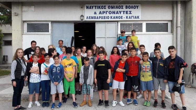 Επίσκεψη μαθητών στο τμήμα καγιάκ του ΝΟΒ-Α