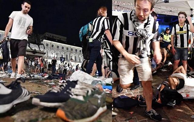 600 τραυματίες από λάθος συναγερμό για βόμβα στο Τορίνο