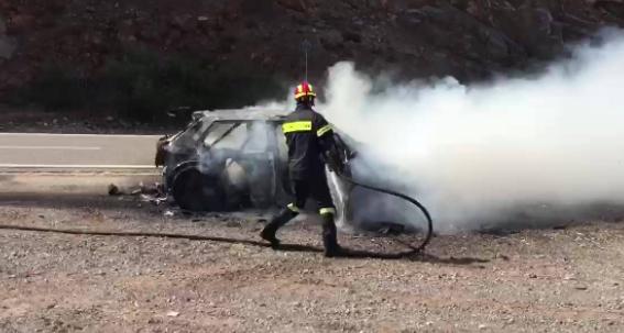 Ράλλυ Ακρόπολις 2017 - Πήρε φωτιά το αυτοκίνητο του πρώτου