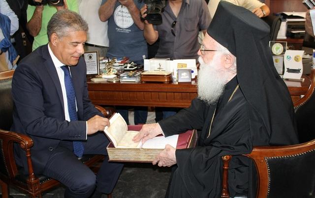 Συνάντηση του Αρχιεπισκόπου κ. Αναστάσιου με τον Περιφερειάρχη