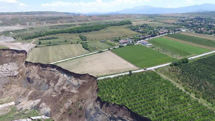 Εικόνες βιβλικής καταστροφής από την κατολίσθηση στο ορυχείο Αμυνταίου